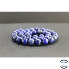 Perles en lapis lazuli d'Afghanistan - Rondes/10mm - Grade AB