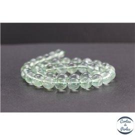 Perles en fluorite verte de Russie - Rondes/10mm - Grade AB+