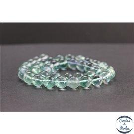 Perles en fluorite bleue de Russie - Rondes/10mm - Grade A