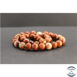 Perles en jaspe rouge d'Australie - Rondes/10mm - Grade AB