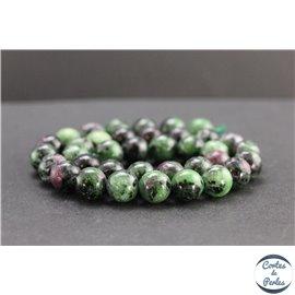 Perles en anyolite de Tanzanie - Rondes/10mm - Grade AB