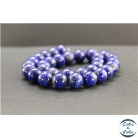 Perles en lapis lazuli d'Afghanistan - Rondes/12mm - Grade AB