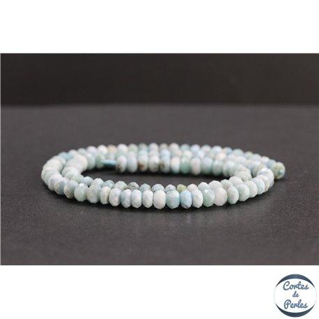 Perles facettées en larimar de République Dominicaine - Roues/6mm - Grade AB