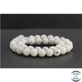 Perles en pierre de lune du Sri Lanka - Rondes/10mm - Grade B