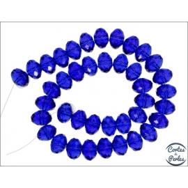 Perles en Cristal de Bohème - Roue/14 mm - Saphir