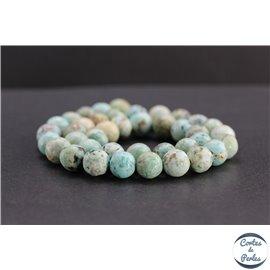 Perles en turquoise du Pérou - Rondes/10mm - Grade AB