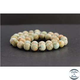 Perles en turquoise du Pérou - Rondes/10mm - Grade B