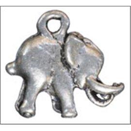 Apprêts pampilles - Éléphants/15 mm - Argenté