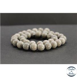 Perles en jaspe feuille d'argent d'Australie - Rondes/10mm - Grade A
