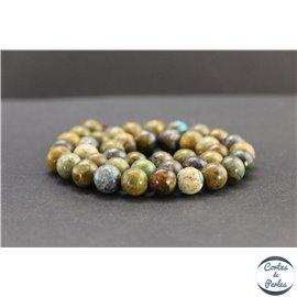 Perles en chrysocolle du Pérou - Rondes/10mm - Grade B