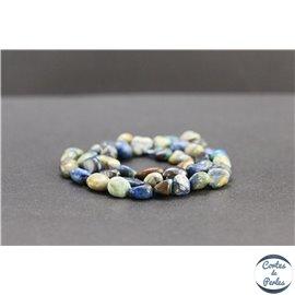 Perles en chrysocolle du Pérou - Nuggets/8mm - Grade AB