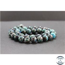 Perles en chrysocolle du Pérou - Rondes/10mm - Grade A
