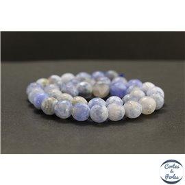 Perles facettées en agate lavande - Rondes/10mm
