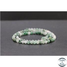 Perles en chrysoprase d'Australie - Rondes/4mm - Grade AB