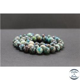 Perles en chrysocolle du Pérou - Rondes/9mm - Grade A