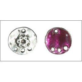 Apprêts pampilles émaillées - 11,5 mm - Rose