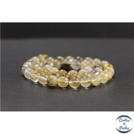 Perles en quartz dendritique du Brésil - Rondes/8mm - Grade A