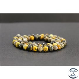 Perles en jaspe bourdon d'Indonésie - Rondes/6mm - Grade AB+