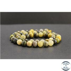 Perles en jaspe bourdon d'Indonésie - Rondes/8mm - Grade AB+