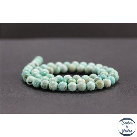 Perles en turquoise du Pérou - Rondes/6mm - Grade A