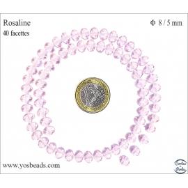 Perles en Cristal de Bohème - Roue/8 mm - Rosaline