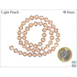 Perles en Cristal de Bohème - Roue/8 mm - Pêche Clair