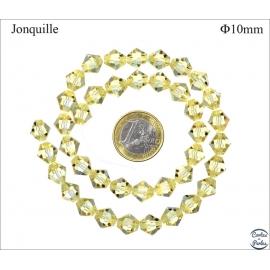 Perles en Cristal de Bohème - Toupie/10 mm - Jonquille