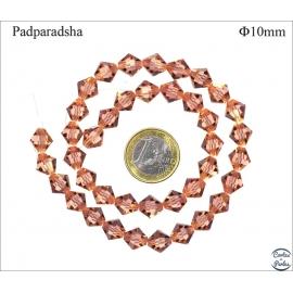 Perles en Cristal de Bohème - Toupie/10 mm - Rose clair
