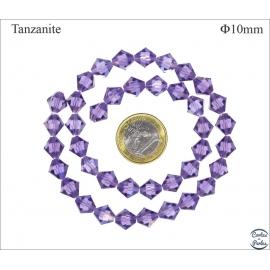 Perles en cristal - Toupies/10 mm - Tanzanite