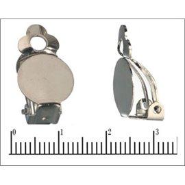 Accessoires boucles d'oreilles - 12 mm - Argenté