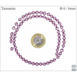 Perles en cristal - Toupies/6 mm - Tanzanite
