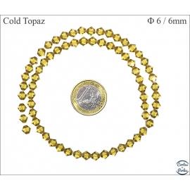 Perles en cristal - Toupies/6 mm - Cold topaze