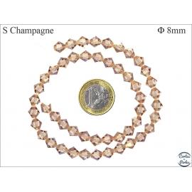 Perles en cristal - Toupies/8 mm - Champagne