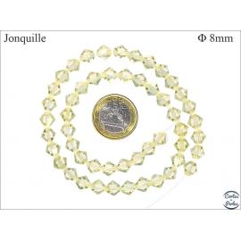 Perles en cristal - Toupies/8 mm - Jonquille