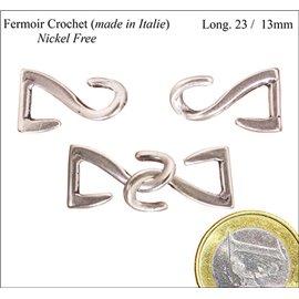 Fermoirs crochets - 23 mm - Argenté