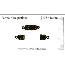 Fermoirs magnétiques - 5,5 mm - Noir