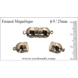 Fermoirs magnétiques - 9 mm - Argenté