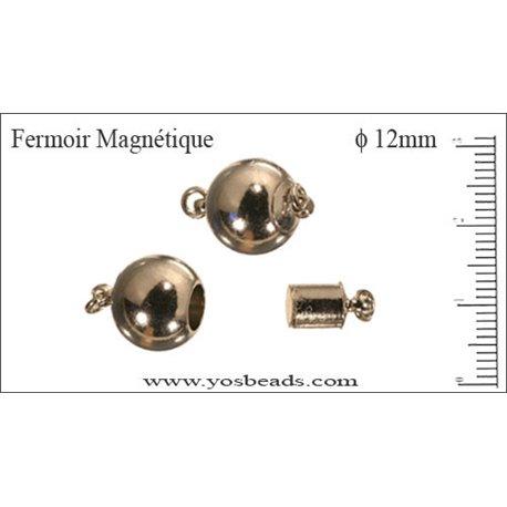 Fermoirs magnétiques - Rond/12 mm - Argenté