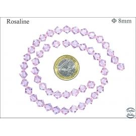 Perles en cristal - Toupies/8 mm - Rosaline