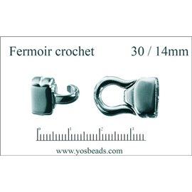 Fermoirs premium - 30 mm - Argenté