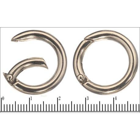 Porte clés - 24 mm - Argenté