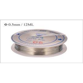 Bobine de fil - 0,5 mm - Argenté