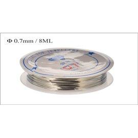 Bobine de fil - 0,7 mm - Argenté