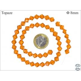 Perles en cristal - Toupies/8 mm - Topaze