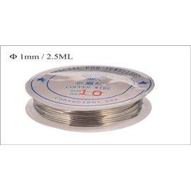 Bobine de fil - 1 mm - Argenté