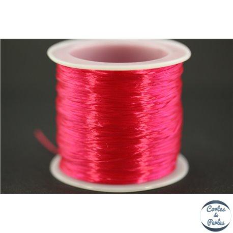 Bobine de fil élastique - 0,6 mm - Rose