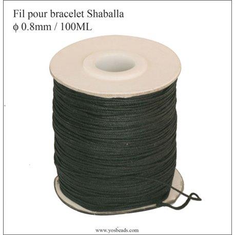 Bobine de fil élastique - 0,8 mm - Noir