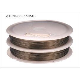 Bobine de fil cablé - 0,38 mm - Gris