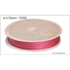Bobine de fil cablé - 0,38 mm - Rose