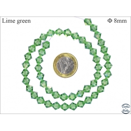 Perles en cristal - Toupies/8 mm - Lime green